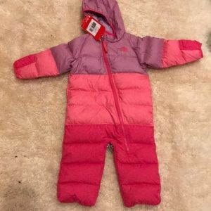 The north face down toddler snow suit